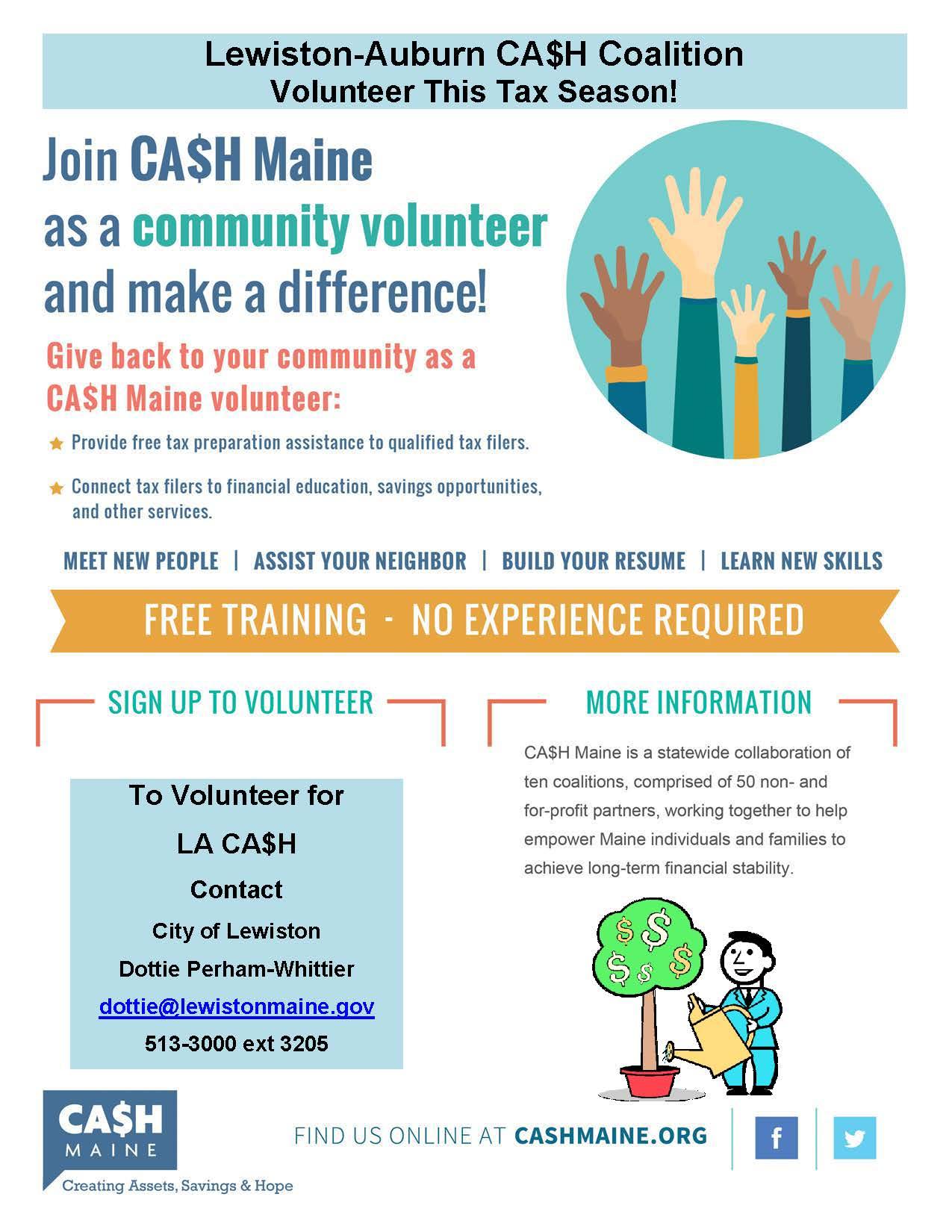Volunteer with the LA CA$H Coalition | Lewiston, ME ...